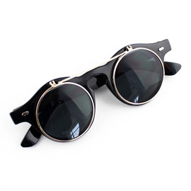 ROMWE - ROMWE Metal Layered Retro Sunglasses