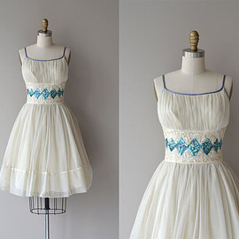 Harlequin dress | vintage 1950s dress • sequin 50s dress