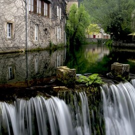 France - Waterfall in Florac