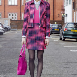 Antipodium - Antipodium jacket/ skirt - Neon Pink