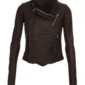 Rick Owens - Asymmetric leather biker jacket