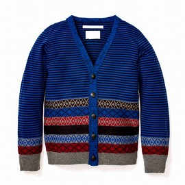 White Mountaineering - JACQUARD BORDER KNIT CARDIGAN