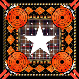 GIVENCHY by Riccardo Tisci - FW2013 Target star printed scarf