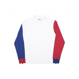 Palace Skateboards - RUGBY SHIRT WHITE