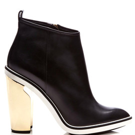 NICHOLAS KIRKWOOD - Metallic-Heel Leather Ankle Boots