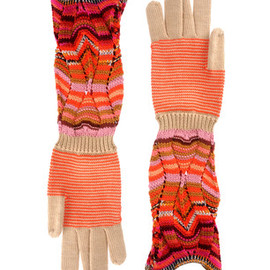 MISSONI - Two colors gloves