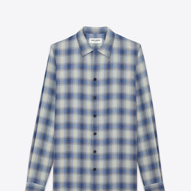Saint Laurent Paris - Ecrin-Collar Shirt (Blue / Play de Viscose)