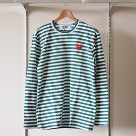 PLAY COMME des GARCONS - 綿天竺ボーダーT-Shirt #green
