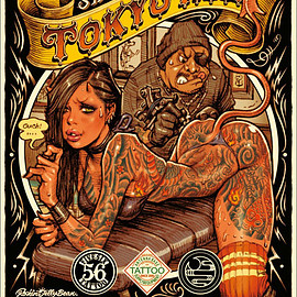 "TOYKO INK × Rockin'Jelly Bean - ""TOKYO INK"" OFFSET PRINT POSTER"