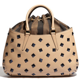 FENDI - 'B. Fab - Medium' Studded Calfskin Tote