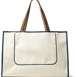 Connolly - Leather-Trimmed Canvas Tote Bag