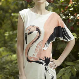 mika organic - flamingo dress