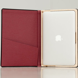 The Cartella for MacBook Air Moleskine Case-13 inch Cranberry Ships Priority Mail