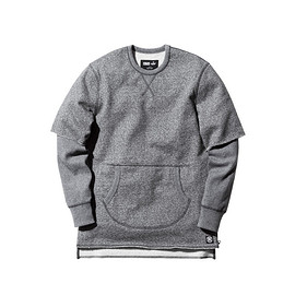 Reigning Champ, Kith - Frayed Thompson Crew - Charcoal