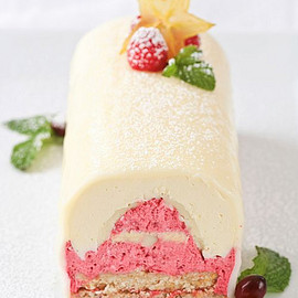 Tartelette - Lemon White Chocolate Raspberry Yule Log