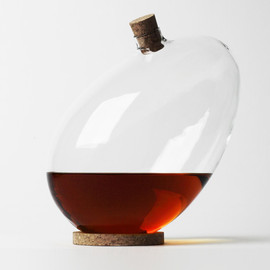 tilting egg-shaped decanter - Sebastian Bergne says bottoms up with tilting egg-shaped decanter