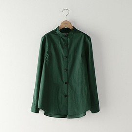 Steven Alan - COTTON TYPEWRITER BAND COLLAR SHIRT