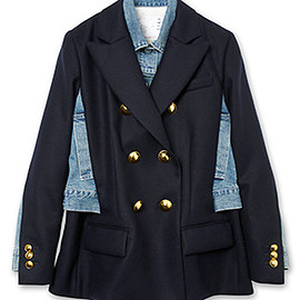 sacai - Denim Mix Jacket