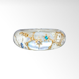 STAR JEWERY - CLEAR CONSTELLATION RING