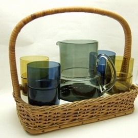 Nuutajarvi - Juice set/Pitcher with Stacking Glasses