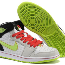 Air Jordans/Jordan 1 Retro 93 Black White and Electric Green and Neutral Grey/Gym Red Release Online