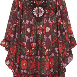 ANNA SUI - Morning Glory cotton and silk-blend mini dress