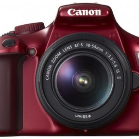 Canon - EOS Kiss X50 RED EF-S18-55IS2 LENS KIT