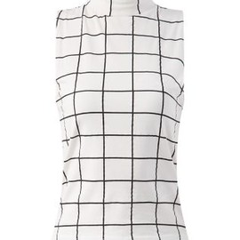 new look - Sleeveless Grid Print Top