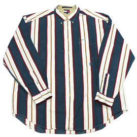 Vintage 90's Tommy Hilfiger Striped Shirt Mens Size XXL