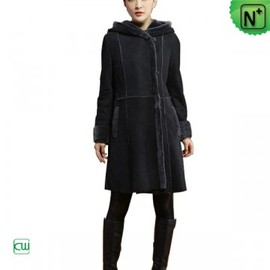 CWMALLS - Women Black Shearling Coat CW640210