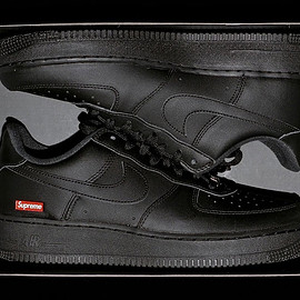 Supreme, NIKE - Air Force 1 Low - Black/Black