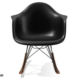 Charles & Ray Eames / Vitra - RAR lounge chair (black base, walnut/maple leg)