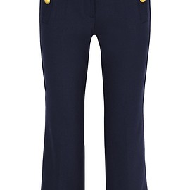 J.Crew - Sailor cropped wool-blend straight-leg pants