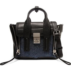 3.1 Phillip Lim - The Pashli mini textured and stingray-effect leather trapeze bag