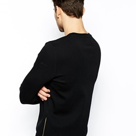 asos - Neoprene Sweatshirt With Zip Detail