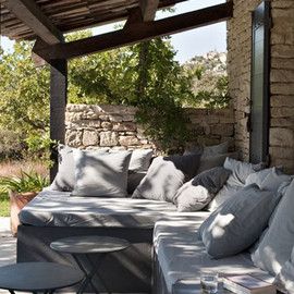 outdoor dining - a country home in the provence
