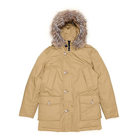 WOOLRICH - Laminated Cotton Parka-Ocher