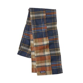 patagonia - Fjord Flannel Patchwork Scarf, Navy Blue (NVYB)