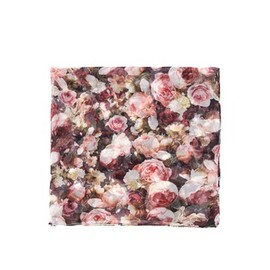 GIVENCHY - Rose print silk scarf