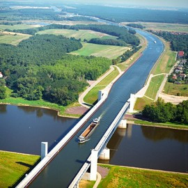 Germany  - Magdeburg Canal Bridge