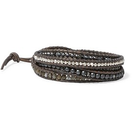 Chan Luu - Leather multi-stone wrap bracelet