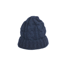 Stevenson Overall Co. - Indigo Cable Knitted Cap -KC1