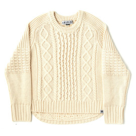 KID MOHAIR HOLLOW SWEATER