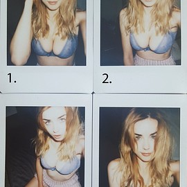 danielle sharp - Blue Selfie Polaroids