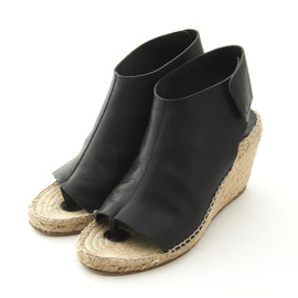 CELINE - Wedge Open Toe Bootee