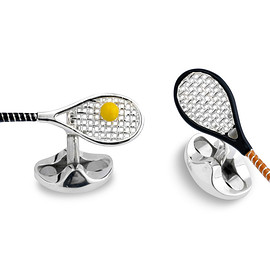 Deakin and Francis - Sterling Silver Tennis Racket & Ball Cufflinks