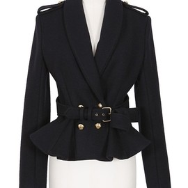Bouchra Jarrar - BOUCHRA JARRAR MIDNIGHT BLUE WOOL JACKET