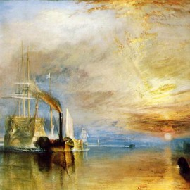 "William Turner - The Fighting ""Temeraire"" tugged to her last berth to be broken up"