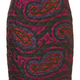 J.W. Anderson for TOPSHOP - **Quilted Paisley Silk Skirt by J.W. Anderson for Topshop