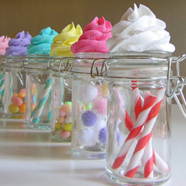 12LegsCuriosities - Fake Cupcake Candy Shoppe Classic Swirl Ed. Glass Jars Set 4 Original 12 Legs Concept Often Imitated, Never Duplicated